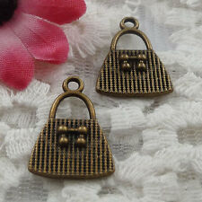 Free Ship 60 pieces bronze plated handbag charms 21x15mm #1049
