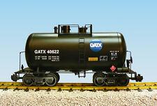 USA Trains G Scale Beer Can Tank Car R15204  GATX - Black