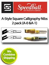Speedball Calligraphy A Style Pen Nib Two Pack A0 & A1 31001