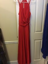 ASOS Petite Red Wrap Pleat Maxi Dress with Self Tie Size US 10 Petite NWT