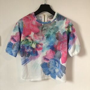 Coast Top Size 8 Size 10 Size Small Floral Tshirt Smart Workwear Office