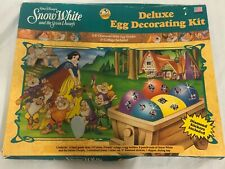 Vintage New  Disney Snow White & the Seven Dwarfs Deluxe egg decorating kit