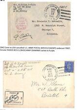 BC229 1943 1944 Go Bristol WW2 US Army Service Postal * APO 230 * Couvre {2}