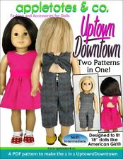 """American Girl Doll Sewing Pattern -Uptown Downtown Sewing Pattern for 18"""" Dolls"""