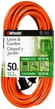 Extension Cord Cable 50 Feet 16 Gauge Power Indoor Outdoor Heavy Duty 125V 1625W