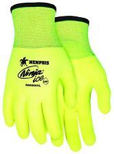 MCR Safety N9690HVM Ninja Ice Hi-Vis 15 Gauge Lime Nylon Gloves, Medium