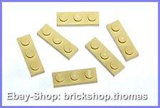 Lego 6 x Platte (1 x 3) - 3623 beige Platten - Tan Plate Plates - NEU / NEW