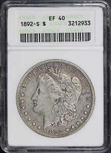 1892-S Morgan Silver Dollar ANACS EF-40