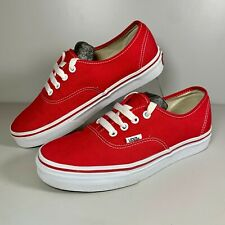 Women's VANS Off the Wall Red Canvas Low Shoes Trainers Size UK 5 VGC