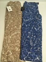 2 Pants Pull On By ZAC & RACHEL The Ultimate Fir Size 10 Rayon Paisley NWT