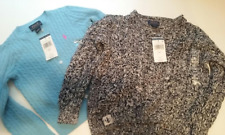 2 BRAND NEW POLO RALPH LAUREN GIRLS SWEATER 4 4T NWT BLUE