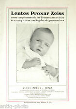 "Catálogo fotos ""Liendres Proxar Zeiss"" por Carl zeiss Jena (Español)"