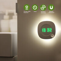 LED PIR Motion Sensor Night Light With Time Clock For Bedroom Wall Lamp