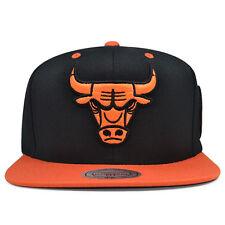 Chicago Bulls EXCLUSIVE ORANGE BURST Snapback Mitchell & Ness NBA Hat