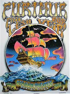 FURTHUR GRATEFUL DEAD 2011 BOSTON MA POSTER #17 DEAD & CO