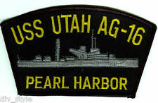 USS Utah AG-16 (formerly BB-31) embroidered patch USNavy Pearl Harbor