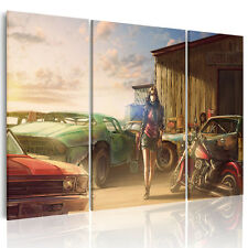 HD Canvas Prints Home Wall Art Decor Painting Unframed Cool Car Motor Lady