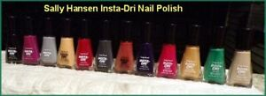 New Sally Hansen Insta-Dri Nail Polish  (YOU CHOOSE)  FREE SHIPPING + FREE GIFT