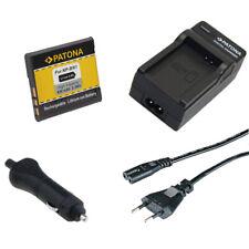 Batteria Patona + caricabatterie casa/auto per Sony DSC-TX300V,DSC-TX5,DSC-TX55