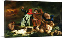 ARTCANVAS The Barque of Dante Canvas Art Print by Eugene Delacroix