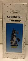 Scott's Collectables Christmas Countdown Calendar Wooden Tabletop Snowman