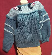 Vintage Viking Oversized Wool Sweater Size M