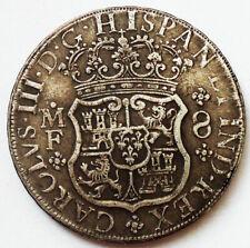 MEXICO Silver Coin - 8 Reales 1762 Mo MF