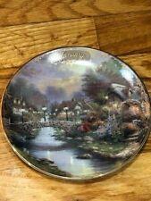 Thomas Kinkade Simpler Times January Lamplight Bridge Calendar Plate 12511B