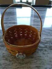 Longaberger 1998 Mother's Day Basket & Tieon Mint Free Shipping!