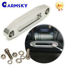 Universal ATV UTV Aluminum Hawse Fairlead Synthetic Winch Rope Cable Lead Guide