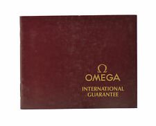 Omega International Guarantee Booklet Manual Blank