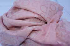 New Salvatore Ferragamo Women's Scarf Silk Logo Shawl Pink