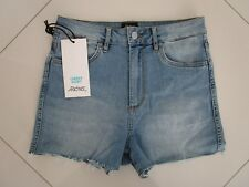 Riders by Lee Ladies High Cheeky Stretch Denim Cut Out Shorts   Size 11