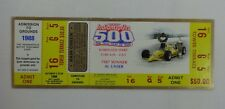 1988 Indianapolis 500 Unused Race Tower Terrace Ticket Credential Brickyard