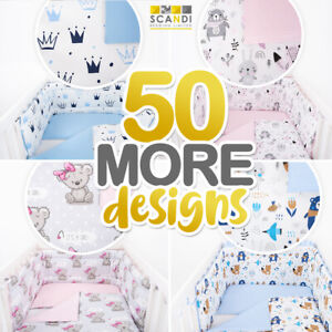 50+ DESIGNS BABY BEDDING SET  Inc BUMPER+COVERS and/or DUVET+ FLAT PILLOW