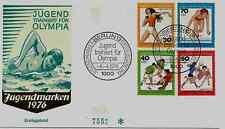 "FDC Berlin MiNr 517-520 (7cG) ""Jugend 1976: Jugend trainiert für Olympia"" -Sport"