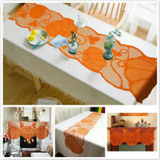 Table Runner Lace Pumpkin Halloween Cover Thanksgiving Dining Table Topper SK