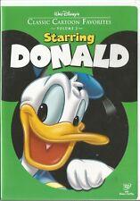 DISNEY'S STARRING DONALD VOLUME 2 (2005) DVD RARE CARTOON CLASSIC FAVORITES