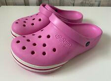 Girls Pink Jibbitz Crocs - Size 3 Youth