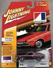 JOHNNY LIGHTNING 1974 AMC HORNET AMERICAN MOTORS CLASSIC GOLD PLUM  RR TIRES.