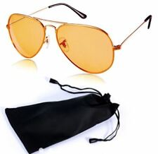 ANT Aviator Sunglasses Fashion Glasses For Men with Pouch - GOLD