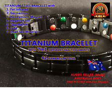 NEW BEST Mens 7in1 Titanium Magnet Arthritis Bracelet with 42 Power Elements!