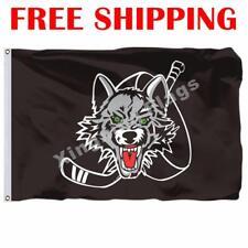 Chicago Wolves Logo Flag AHL American Hockey League 2020 Banner 3X5 ft