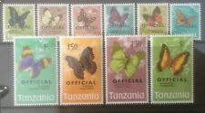 TANZANIA 1973 OFFICIAL MNH SET OF 10