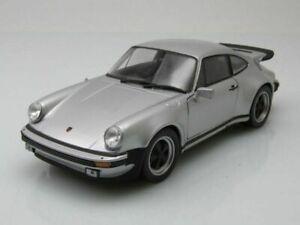Welly NEX - 1974 Porsche 911 Turbo 3.0 Silver 930 Diecast Model Car 1:24 Scale