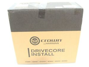New Crown 4/600N DriveCore Install 4Ch, 600W @ 4Ω Audio Power Amplifier BLU Link