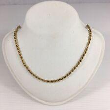 Antiguo Collar De Cuerda De Oro Amarillo 9ct 37cm de largo 3.8g