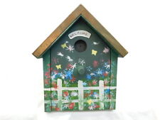 MAILBOX WOODEN BIRD HOUSE HANDCRAFTED FOLK ART  CRAFTS COPPER ROOF