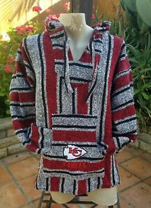 Mexican NFL Kansas City CHIEFS Baja hoodie pullover sweater Large