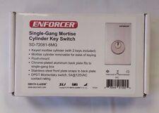 Seco-Larm Enforcer Single-Gang Mortise Cylinder Key Switch [Sd-72081-6Mq]